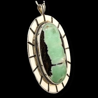 Large Chrysoprase Pendant
