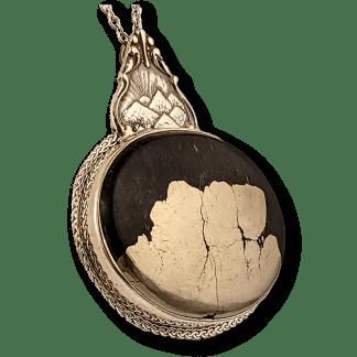 Vintage Silverware Pyrite Pendant